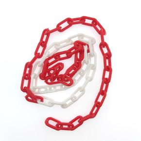 Plastik Zincirr Kırmızı Beyaz No:3