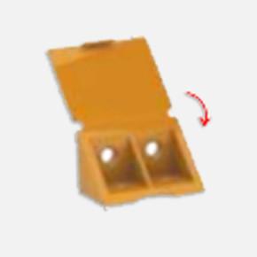 Plastik Köşe Bağlantı 4Lü Kahvesiyah