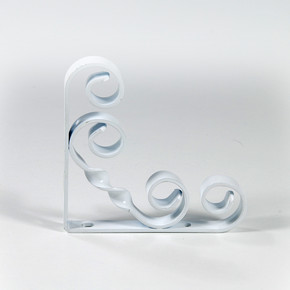 Endpa Burgulu Raf Altı Konsol Beyaz 15 cm