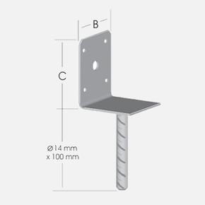 Pergola Ayağı-L Form