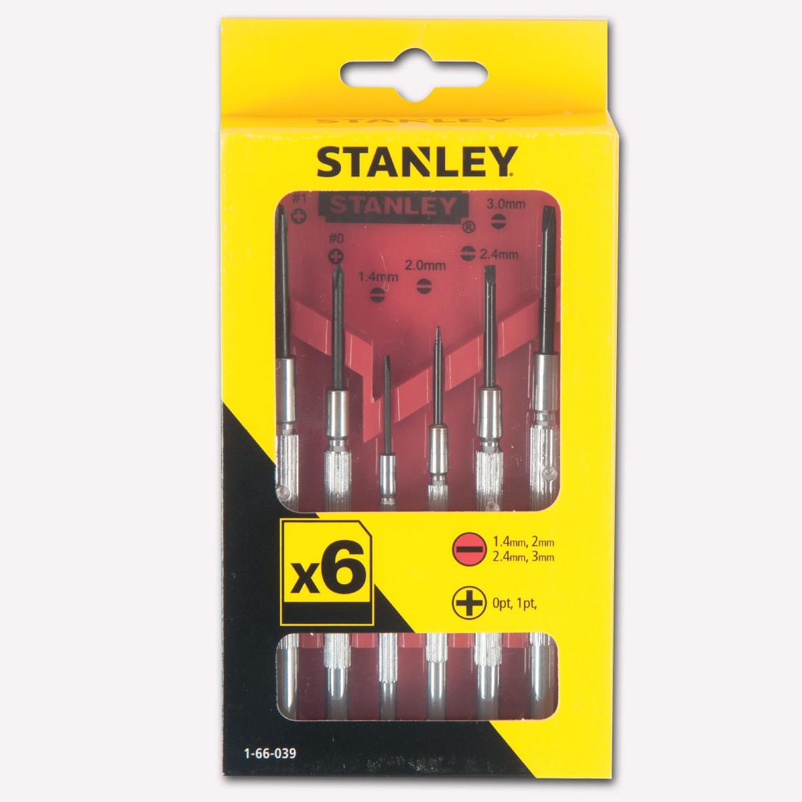 Stanley 1-66-039 6 Parça Saatçi Tornavida Takımı