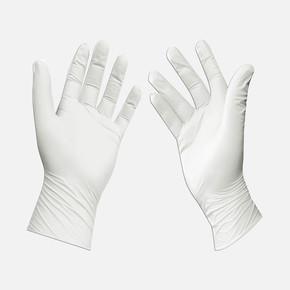 10'Lu Tek Kullanı mlık Koruyucu Eldiven Beyaz