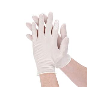 10'Lu Tek Kullanımlık Koruyucu Eldiven Beyaz
