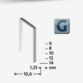 Geniş Zımba Teli 53F/14  galvaniz  600 Adet