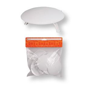 Lüks Buat Kapağı Plastik Ayaklı   (2'Li Paket)