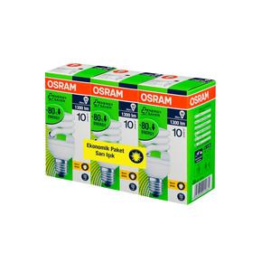 Osram 3'Lü Duluxstar Mini Twist 20W Enerji Tasarruflu Ampul Sarı Işık