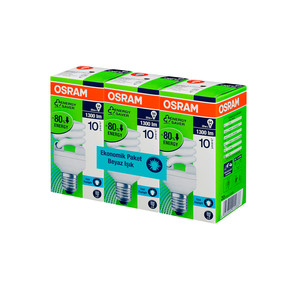 Osram 3'Lü Duluxstar Mini Twist 20W/827 E27-Duy Spiral Enerji Tasarruflu Ampul Beyaz Işık