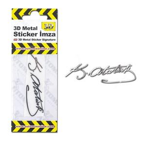 3D Metal Sticker İmza 044112