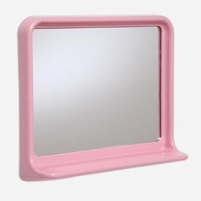 Beyaz Dikdörtgen Etajerli Ayna