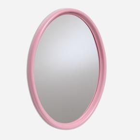 İstiridye Oval Salon Ayna Beyaz