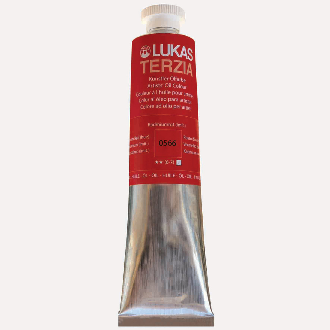 Terzia Yağlı Boya 75 ml 0566 Kadmium Kırmızı-Koyu