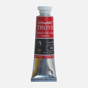 Troya Yağlı Boya 37 ml Tüp 34 Ivory Black