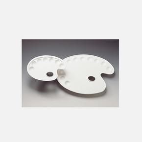 Oval Plastik Palet 17x24 cm