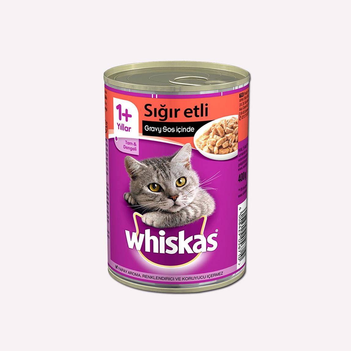 Whiskas Sığır Etli Konserve Kedi Maması 400 gr