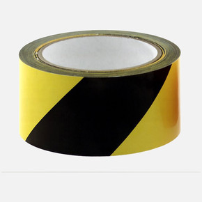 İkaz bantı sarı / siyah, 50 mm 66 m. Kendinden yapışkanlı