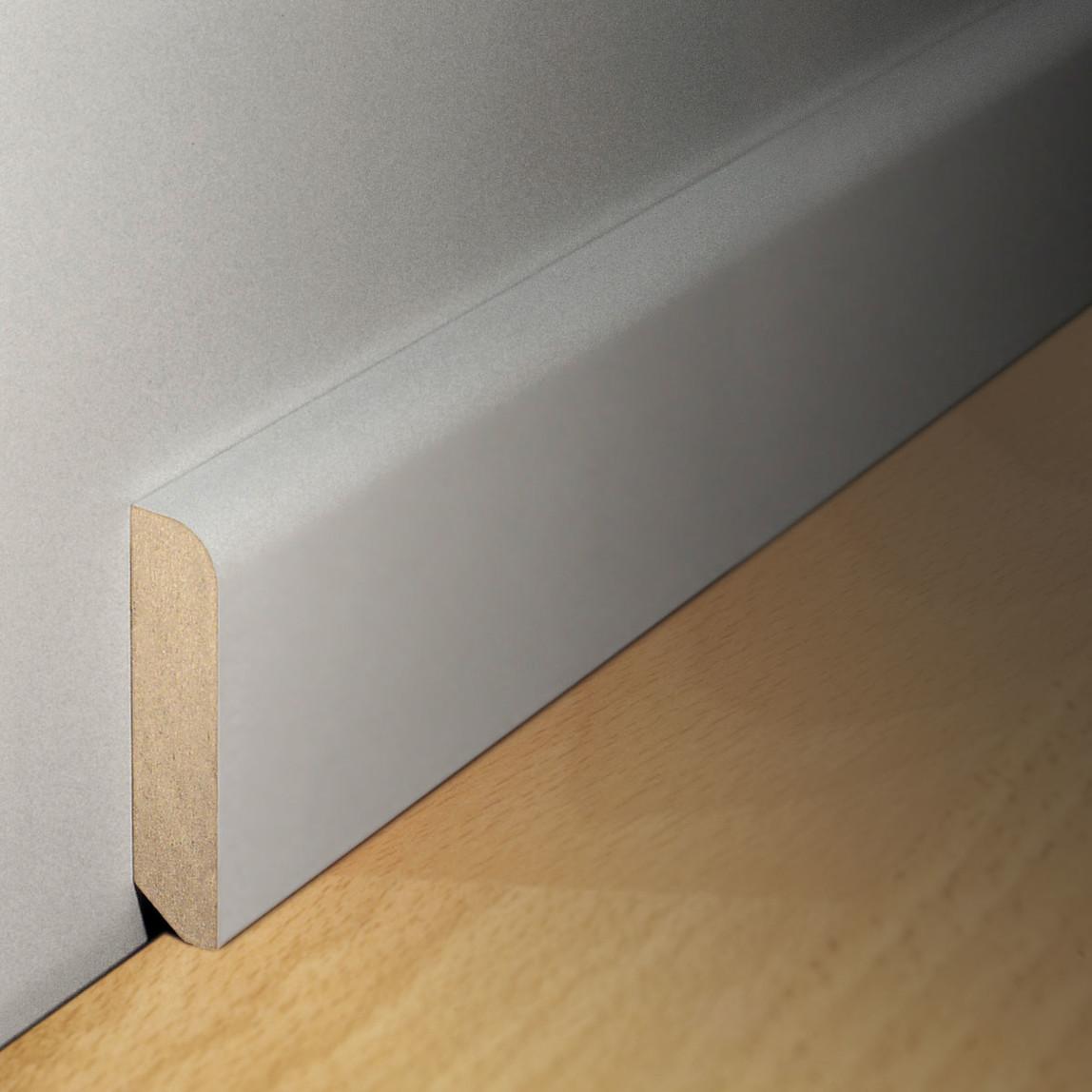 MDF Süpürgelik 2600x15x100 mm Yuvarlak Beyaz
