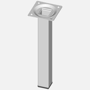 Masa Ayağı, Çelik boru kare, 200mm, beyaz