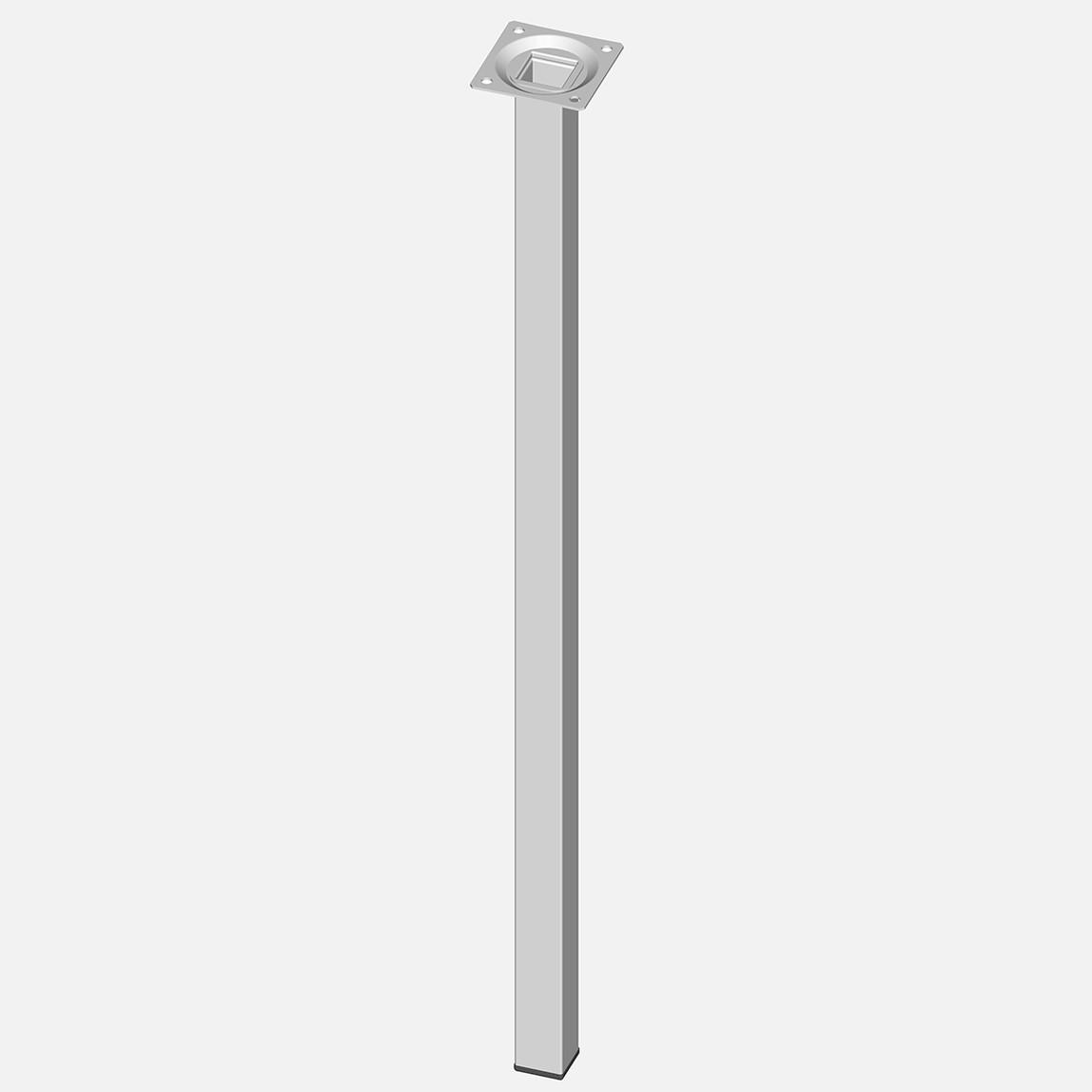 Masa Ayağı, Çelik boru kare, 600mm, beyaz
