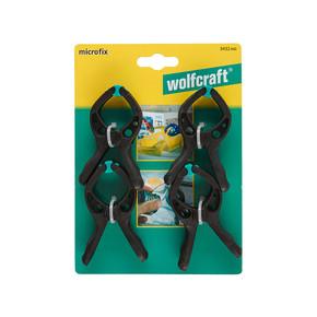 Wolfcraft Microfix 4'lü 30 mm Mini Yaylı İşkence Seti