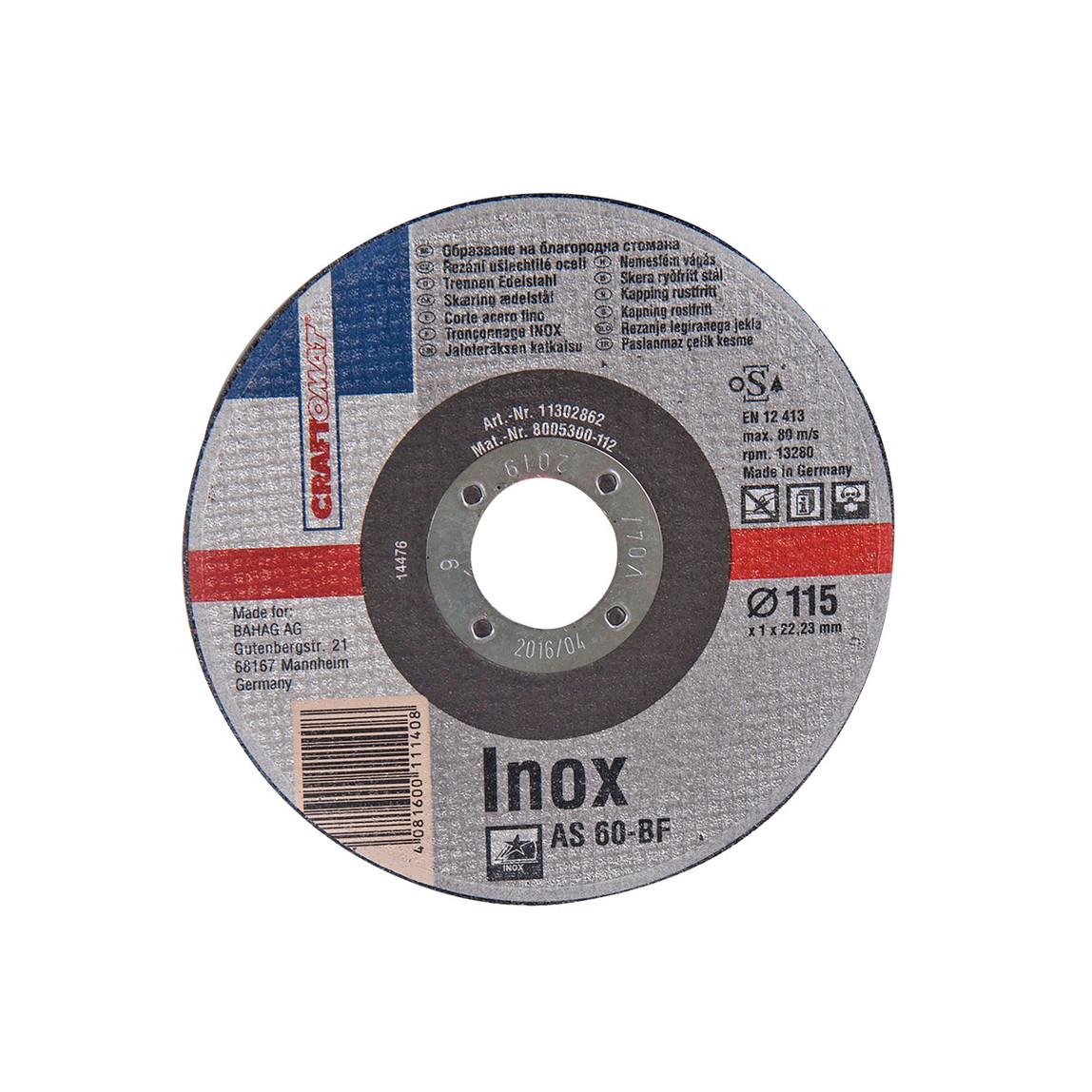 Kesici Disk 115Mm Çelik Gümüş