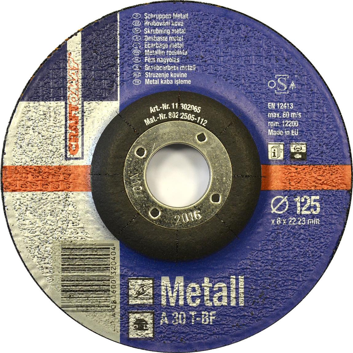 Taşlama Taşı 125X6Mm Metal  Mavi