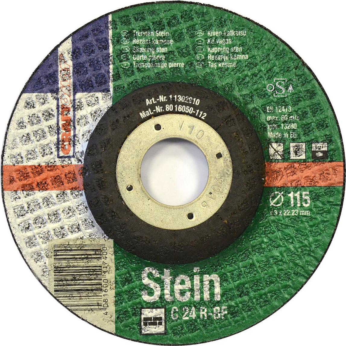 5'li Kesici Disk 230 mm Taş Yeşil
