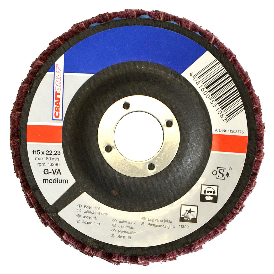 Zımparalama Diski 115 Mm g-Va Medıum
