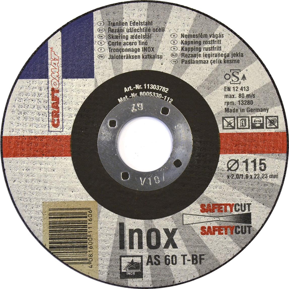 Kesici Disk As 60 T   Freecut T41 115 Mm