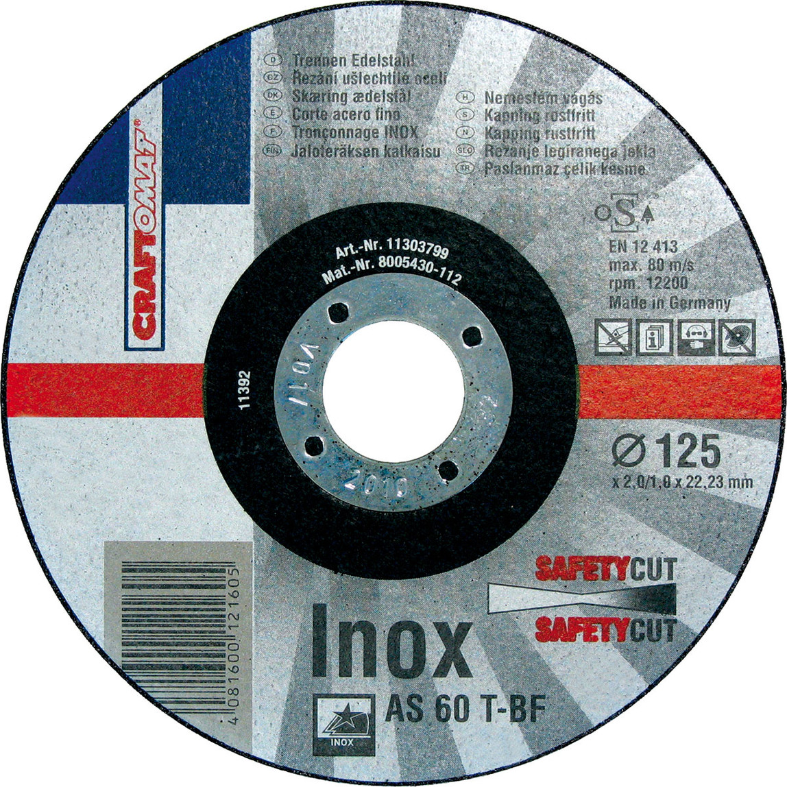 Kesici Disk As 60 T   Freecut T41 125 Mm