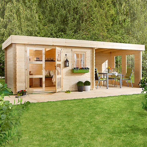Lounge 3 Ahşap Bahçe Evi