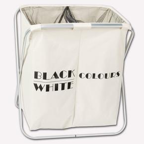 Black-White Çamaşır Sepeti
