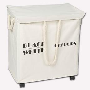 Black-White Kapaklı Çamaşır Sepeti