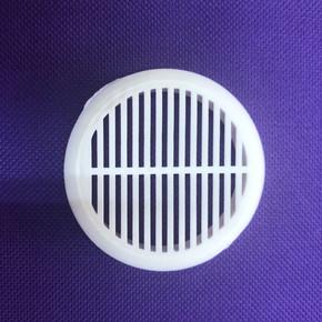 Mobilya Havalandırma Izgarası Çap 45 mm  Beyaz