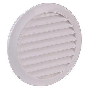 Yuvarlak Dış Duvar Izgarası Çap 100 mm Beyaz
