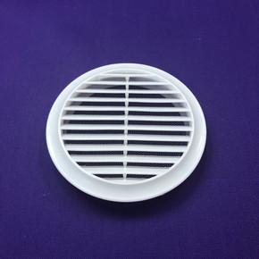 Yuvarlak Dış Duvar Izgarası Çap 125 mm (Beyaz)
