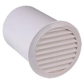 Yuv.Dış.Duv.Izgara Ve 15Cm Bağlantı Elemanı Çap 100 mm  Beyaz