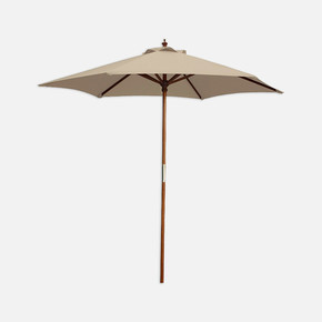 Sunfun Ahşap Şemsiye Naturel