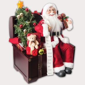 Işıklı Noel Baba Biblo 45cm