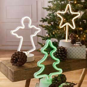 Led Neon Işık Çam Ağacı