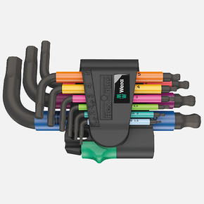 Hex-Plus 950/9 Çok Renkli Allen Anahtar Seti
