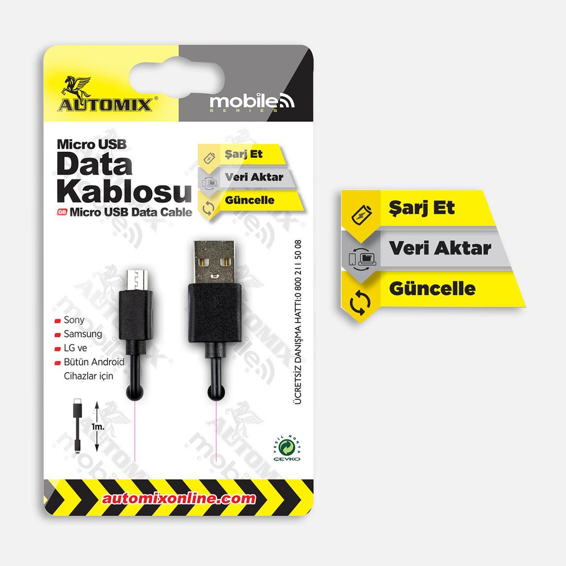 Automix Mıcro Data Kablosu