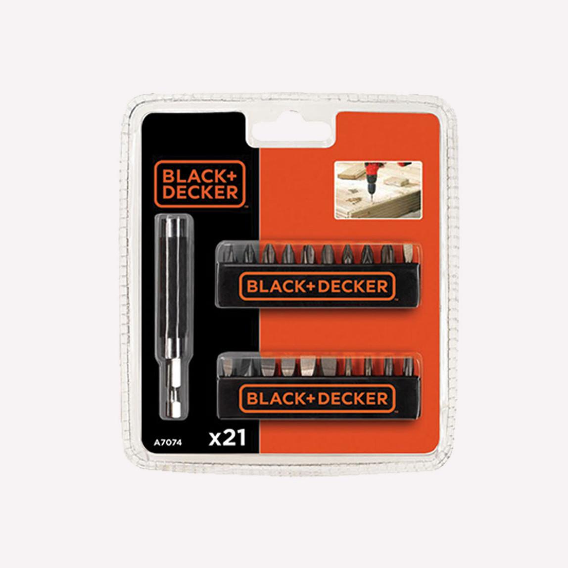 Black&Decker A7074 21 Parça Aksesuar Seti