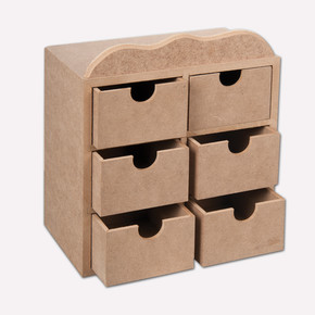 Boyanabilir 6'lı Çekmeceli Kutu