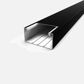 100X50 mm Kablo Kanalı 2M (Siyah)