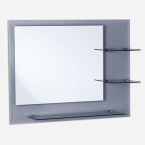 Füme Ayna Camlı Raflı Etejerli Ayna