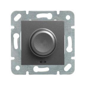 Novella Rotatif Dimmer Rl 600W Siyah Mekanik + Düğme Kapak
