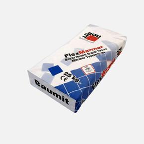 Baumacol FlexMarmor Beyaz C2T 25kg Mermer,Granit,Mozaik,Seramik Yapıştırıcısı.