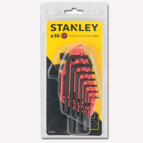 Stanley 0-69-253 10 Parça Allen Anahtar Takımı