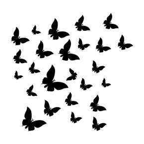 Kelebekler Kumaş Sticker 25'li