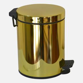 Pedallı Çöp Kovası Soft 5Lt  Altın